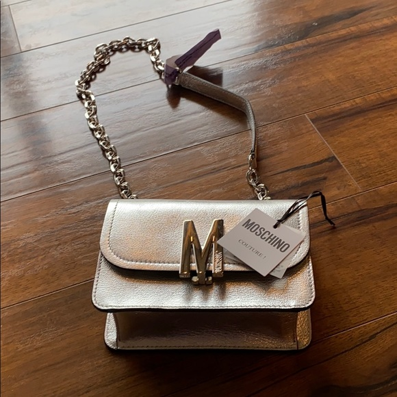 Moschino couture medium leather shoulder bag